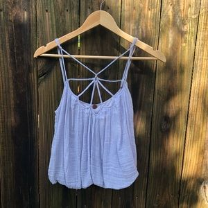 Free People One Lavender Cropped Strappy Top, sz M